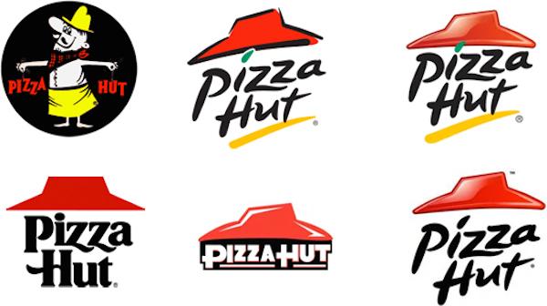 Pizza Hut'ın Eski Logoları