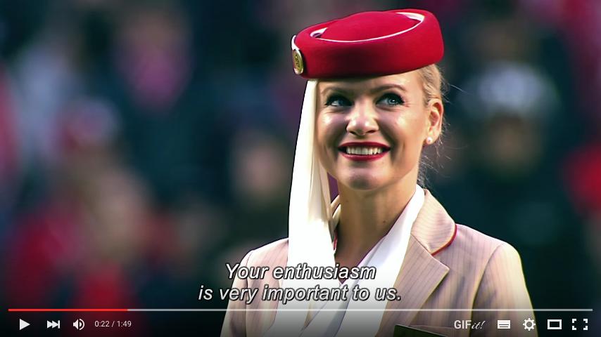 Emirates'den Benfica Uçuş Güvenliği Gösterisi