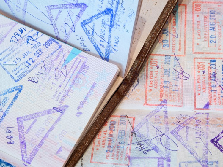 Passport with stamps by Muellek Josef © Shutterstock Inc. All rights reserved