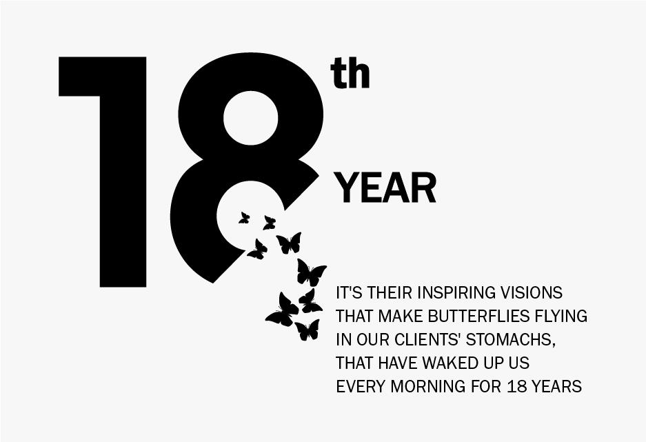18 yıldır, yaptığımız işi her gün daha iyi yapabilmek için bizi yataktan kaldıran şey müşterilerimizin karnında kelebekler uçuşturan o ilham veren vizyonları. O sürdürülebilir değeri yaratabilmek için canla başla çalışmaları.