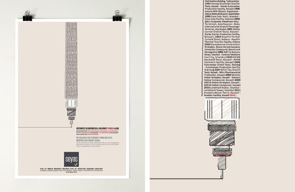 Ad Architecture print ad design for seyas architecture   ubf