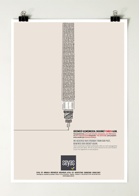Print ad for Seyas Architecture
